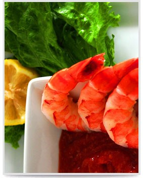 Shrimp with Lemon and Lettuce